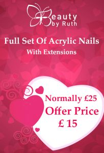Save £10 Full Set Of Acrylic Nails With Extensions