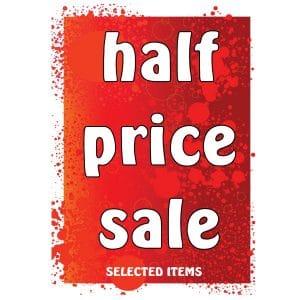 Half Price Sale Starts Today